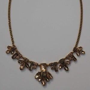J Crew Factory Pink and Gold Bauble Necklace